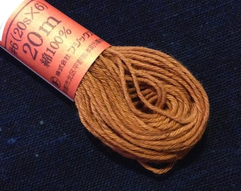 Fujix #4 Japanese Persimmon hand dyed cotton thread russet red brown Sparrow Head