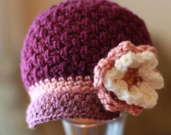 Crochet Newsboy Hat PATTERN Brighton Newsboy Hat (Baby, Toddler, Child, Women and Mens Sizing) Crochet Newsboy Hat Pattern