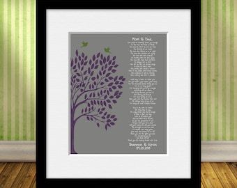 Parent's Thank You Poem, Wedding Day Parent's Poem, Bride's Parent Gift, Groom's Parent Gift, Thank You Poem, Parent's Gift