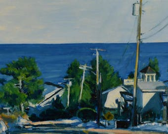 Original Oil Painting, Ogunquit, Maine, Ocean View, by Robert Lafond