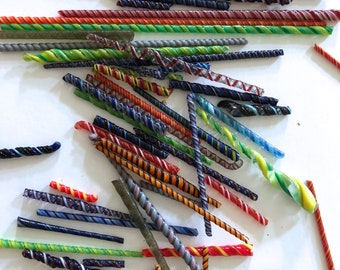 glass jewelry craft parts cylinders twisted swirl sticks