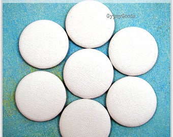 """ABEO-2.25"""" Primed Art Canvas Regular or WaterColor BUTTONS QTY-(6)-(12) Pin backs, Magnets, Ornaments or Jewelry Pendants"""