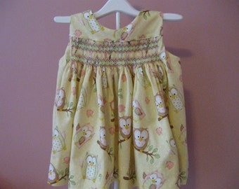 Hand Smocked Sundress-12mths