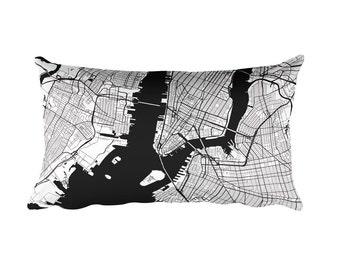 New York Pillow, New York Decor, New York Throw Pillow, New York Gift, New York Map, New York Art, New York NY, New York, Cushion