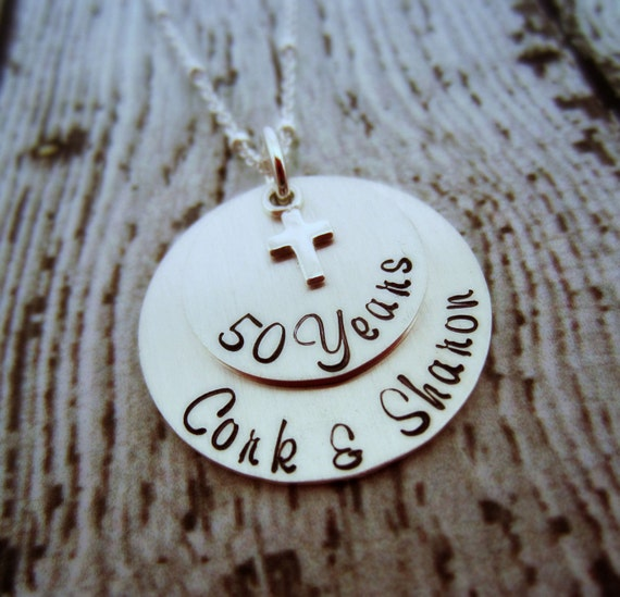 50th Anniversary Necklace Personalized Anniversary Gift