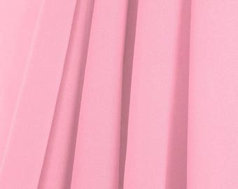 "60"" Wide - High Quality 100% Polyester Chiffon Sheer Fabric - PINK"