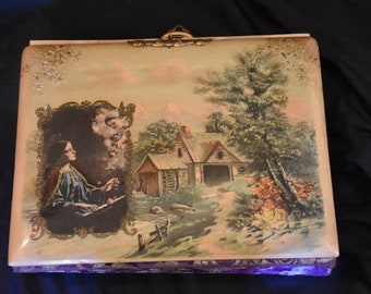 Fabulous Victorian Celluloid Photo Album With Lots of Old Photos