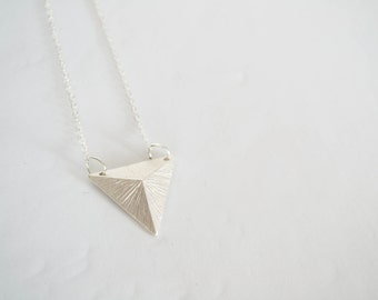 Silver Plated Triangle Necklace