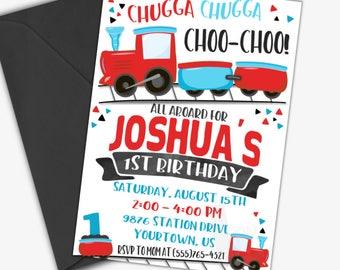 Choo Choo Train Birthday Invitation | Train Birthday Invitation | Printable Invitation | Digital Invite | Custom Invite | Design 18011