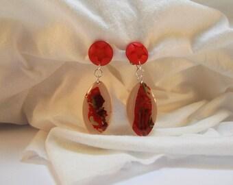 Clip polymer clay earrings