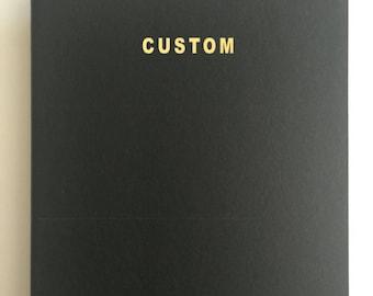 Black Moleskine Journal / Notebook with Gold Foil Print