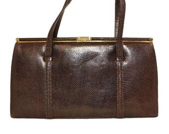 1950's Lizard Skin Handbag