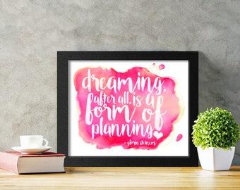 Gloria Steinem Quote, Feminist Quote Art Printable, Feminist Gift for Her, Girl Boss Office Art