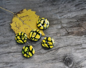 Crazy Black and Yellow Buttons