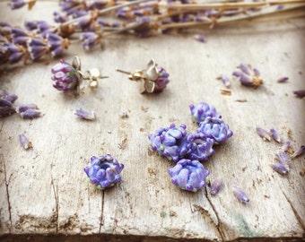 Lavender Bud Stud Earrings