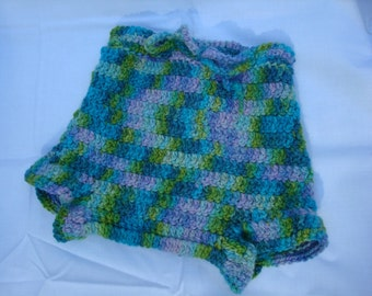 Thick, Hand Dyed Wool Shortie Soaker - Diaper Cover for Nighttime - Meadow 953