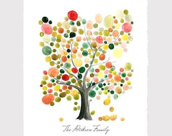 Custom names FAMILY TREE wall art print art poster - Anniversary Special Day Family Tree Birthday