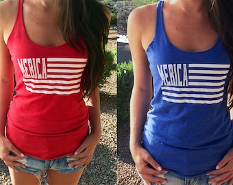 Merica Flag. Tank Top, #merica Clothing, 4th of july. country tank top. Summer Tank, Fourth of July Tank Top. Flag tank top.