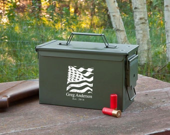 Groomsmen Personalized Ammunition Box - Personalized Ammo Box for Groomsmen - Gifts for Him - Groomsmen Gifts - Gifts for Dad - GC1409