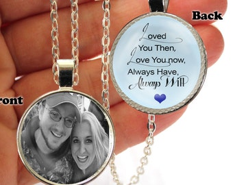Personalized, Pendant, Double Sided, Loved you Then, Love you now, Always have, Always Will, Necklace,