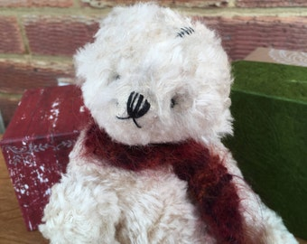 Handmade Artist Teddy Bear Bertie by Fran's Bears, 12 inches (31cm) OOAK