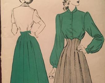 SALE Rare Advance Skirt and Blouse Pattern 4928***Size 16 Bust 34***UNCUT