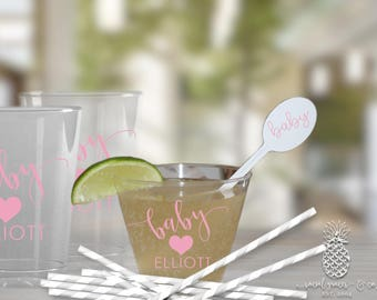 Baby Shower | Customizable Disposable Plastic Party Cups | social graces and Co