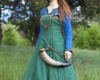 "19% DISCOUNT! Viking Apron ""Ingrid the Hearthkeeper""; Linen Apron; Medieval Apron"