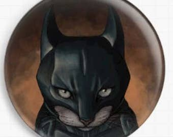 Cat Needle Minder,  Jenny Parks,  Bat Cat Cross Stitch Keeper, Fridge Magnet,