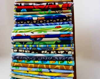 Cloth Wipes - 50 Mixed Boys, Neutral or Modern you choose - Double Layer Flannel - Family Cloth - Reusable Toilet Paper