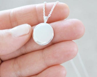 Small Sterling Silver Locket - Heirloom Pendant Style Necklace