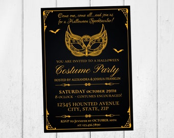 Gothic invitations Etsy