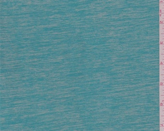 Aqua Green Space Dyed Activewear, Fabric By The Yard