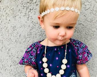 Daisy Headbands, Daisy Baby Headband, Daisy Headband, Cream Baby Headband, Newborn Headband, Daisy Headband,  Daisy Halo, Floral Headband