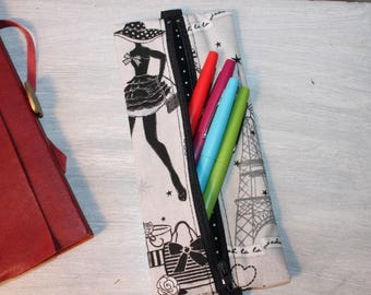 Pouch for the Parisian pattern A5 notebook