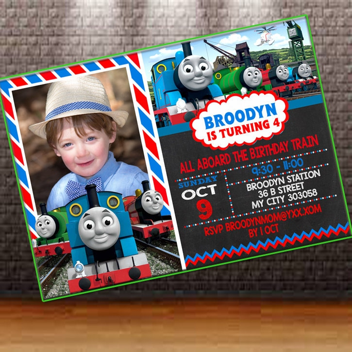 Thomas Train Invitation Thomas Train Birthday Invitation