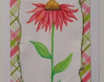 Coneflower Watercolor Card Handmade Card Watercolor Coneflower Card Coneflowers Blank Card Echinacea Flowers Card Floral Card