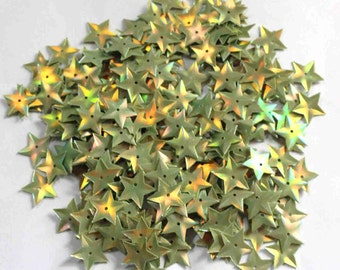100 Olive Green Color Sequins/Star Shape /Metallic Texture/ KBIS642