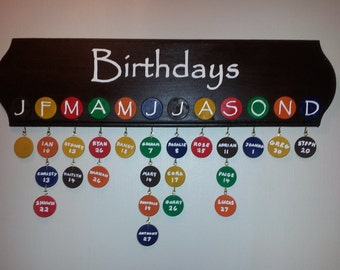 Family Birthday Calendar