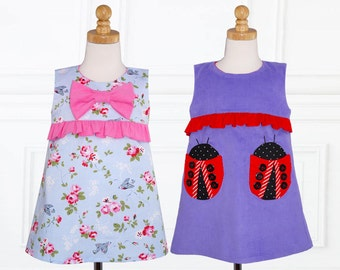 Dress Patterns pdf, Girls Dress Pattern, Childrens sewing pattern PDF, Girls Sewing Pattern, girls dress patterns, pdf patterns, LUCY DRESS