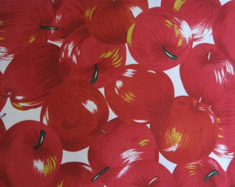 """Apples Fabric Cotton 44"""" wide"""