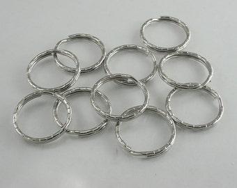 20 pcs. Silver Split Key Rings Key Chains Decorations Findings 26 mm. KC N26 RC