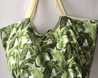 Banana leaf and stripe XL totes 20 for Mae & Me