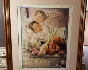 Home Interiors U0026 Gifts Sleeping Angel And Girl Picture