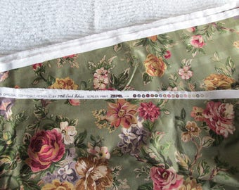 Old Rose Mill Creek Fabric, Screen Print Zepel Floral Fabric