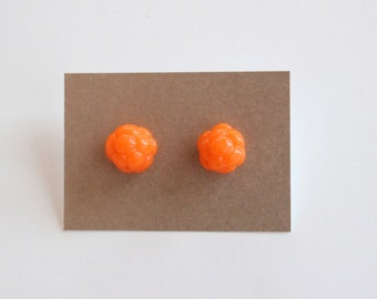 Cloudberry stud earrings