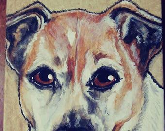 CUSTOM Pet Portrait Painting 6x6, Pet memorial, Christmas gift, animal lover, personalized