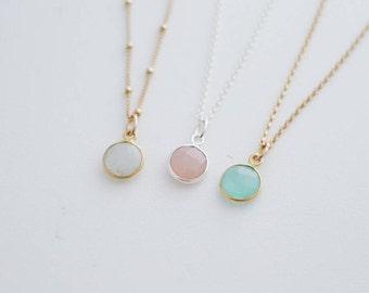 Birthstone Solo Necklace