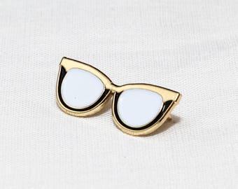 Cat Eye Glasses Enamel Pin | Pins | Lapel Pin | Jewelry
