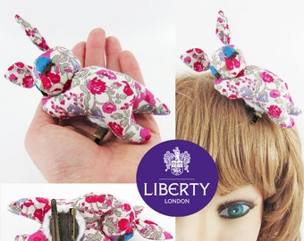 MADE-TO-ORDER ( 1 - 2 Weeks) - Sleeping Bambi Baby Corsage-Liberty Wine Red Floral